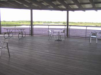 Visitor center viewing deck