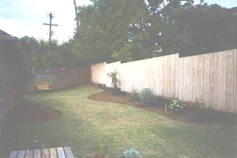 Before, bare yard!