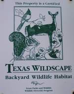 TP&W - Texas Wildscape sign