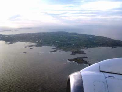 Guernsey Island, from the air